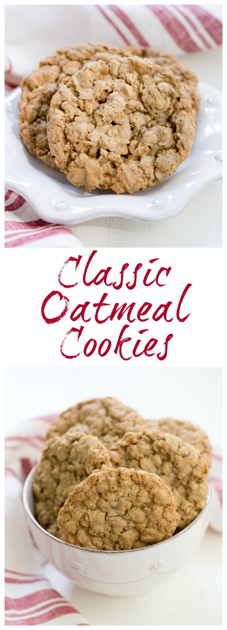 Classic Oatmeal Cookies   Chewy, buttery and irresistible  @lizzydo