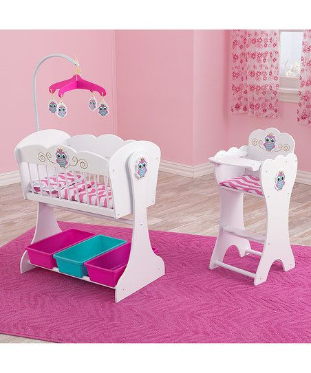 KidKraft Doll Cradle & High Chair Set for 18 Dolls | zulily