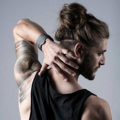 hairstyle for long hair men  long hair styles men mens