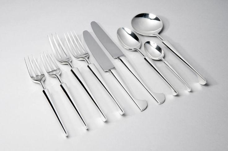 Silver cutlery pot by Brett Payne