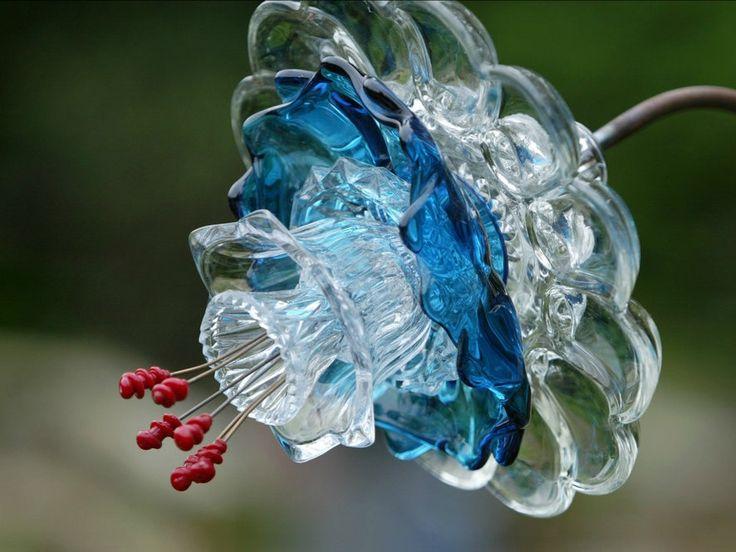 Glass Flowers By Washington Artist Mike Urban Garden Art