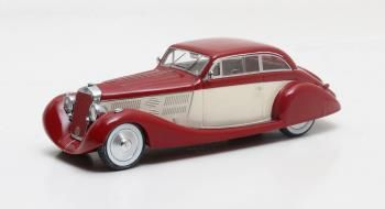 Delage D8 105S Aerodynamic Coupe maroon / wit 1935