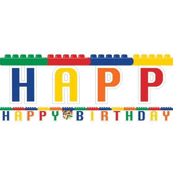 Blokken Letterslinger voor een Lego feestje | Hieppp - Hieppp