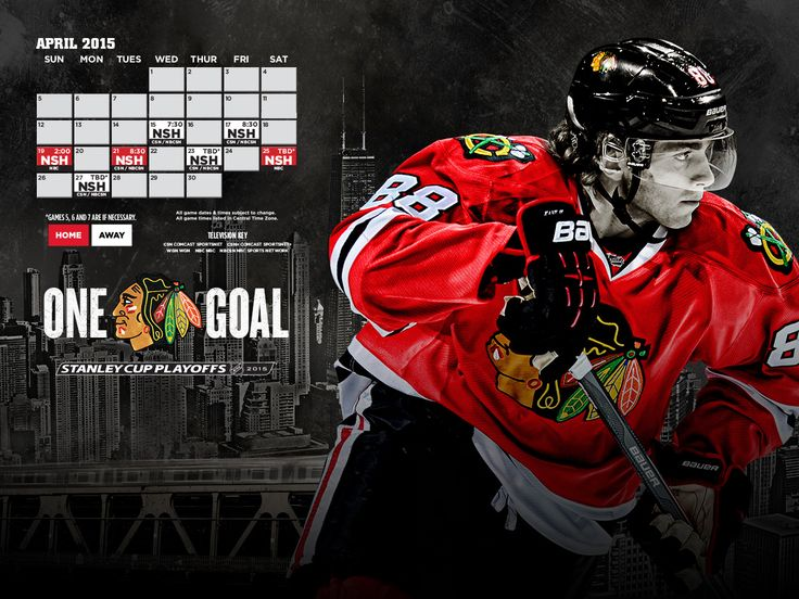 Check out the April Playoff Schedule! #Blackhawks