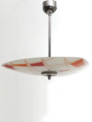 Czech Mid-Century Pendant Lamp circa 1958