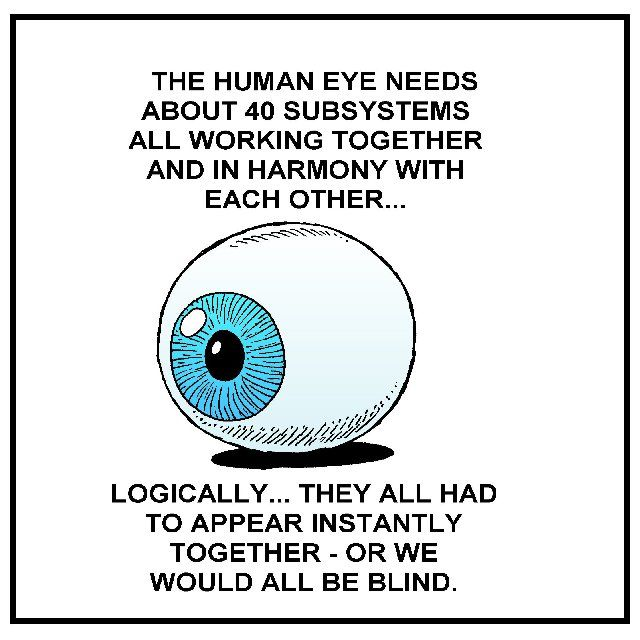 Darwin himself suggested the complexities of the human eye negate his own theory of evolution.