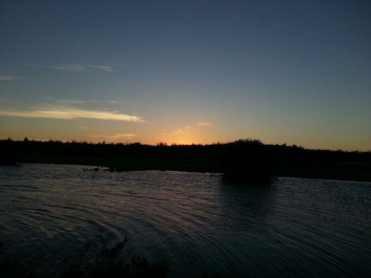Beautiful sunset at St. Joris Bay.