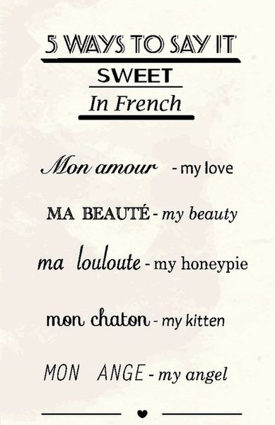 Romantic in French #language #French #love