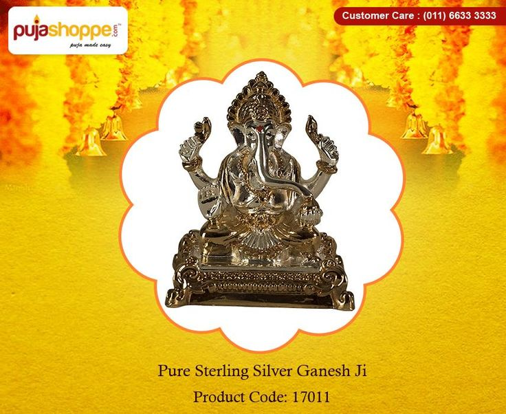 Get Online #PureSterlingSilverGaneshJi at Puja Shoppe.This showpiece is diligently crafted by skilled artisans, which gives it such a mesmerizing look. The product features Ganesh ji made out of Sterling Silver. In this artistic divine showpiece, Ganesh ji features sitting on a Chowki. It also makes a great gift for your family and friends. Shop now: https://www.pujashoppe.com/pure-sterling-silver-92-5-ganesh-ji.html?___SID=U