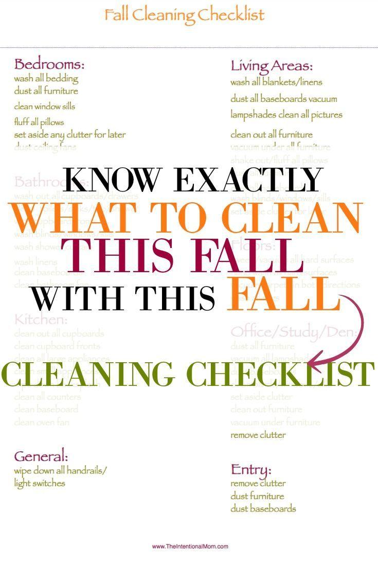 Deep Cleaning Schedule Printable