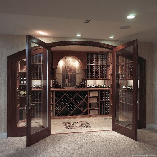Now This Is A Wine Cellar That My Husband Would Love Gallagher Custom Wine Cellar