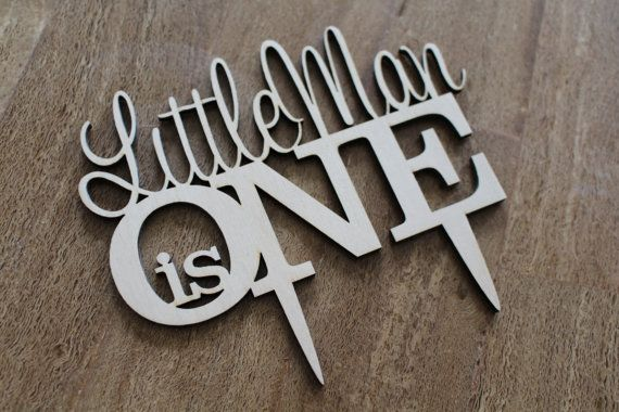 Custom YOUR NAME Is One Wedding Cake Topper Anniversary Year Birthday Cake Topper Laser Cut