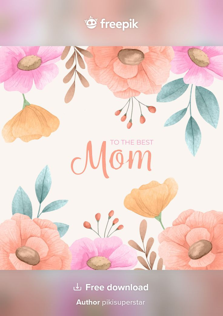 Download Hand Painted Watercolor Mother's Day Illustration for free