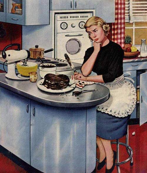 Disappointing Results, art by Stevan Dohanos. Detail from May 21, 1955 Saturday Evening Post cover