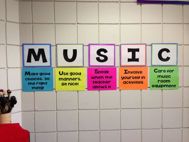 MUSIC Classroom Rules Bulletin Board