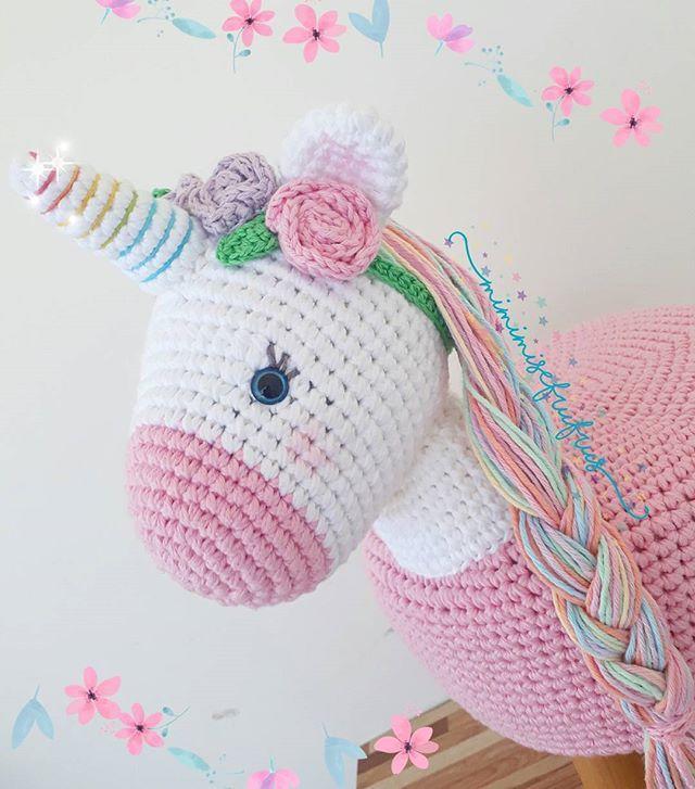 Por uma semana cheinha de encanto!!  . . . . . .#quartodemenina #contodefadas #universoinfantil #decoracaodeunicornio #decoracao #croche #crochet #amigurumi #maedemenina #ludico #puff #contodefadas #partyunicornio #decoracaodefesta #maternativa #festadeunicornio #baby #barroconaoebarbante #babyroom #kidsroom #maternidade #kids #festainfantil #chadebebe #nursery #minipuff #unicor #unicornio #banquinhodeunicornio #banquinhodecroche