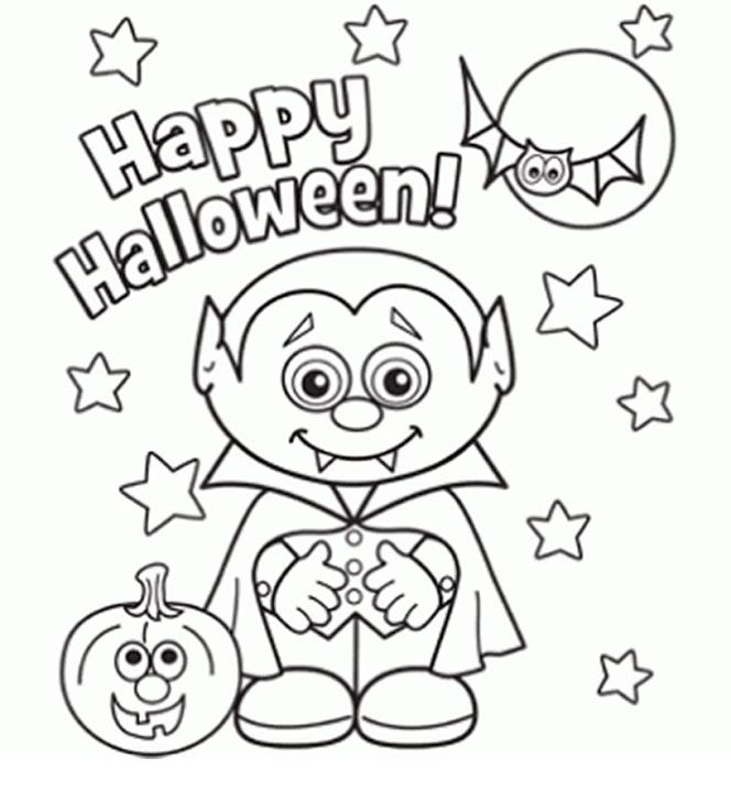 free halloween printable coloring sheets for kids - Halloween Color Pages