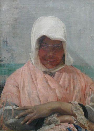 LA SEVILLANA,  Óleo sobre tela 64 x 46 cm Museo Nacional de Bellas Artes