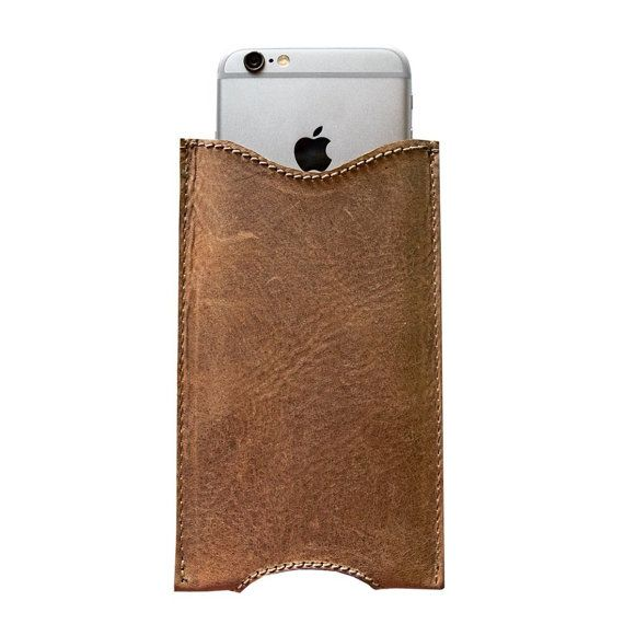 Rustic Leather iPhone 6 Plus Sleeve Handmade by Hide & Drink - Guatemalan Cacao