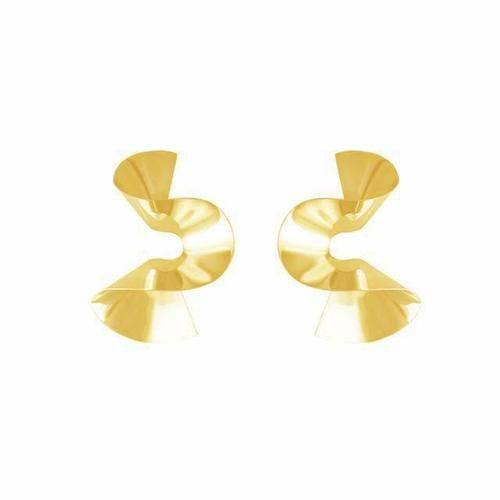 CURVED EARRINGS (GOLD)