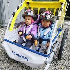 Instagram photo by itsjudytime - Their first ride on my bike. This was real interesting #keirabear #miyabear #twins #itsjudyslife @benjimanfood