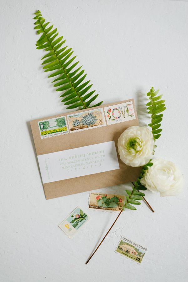 botanical wedding invites