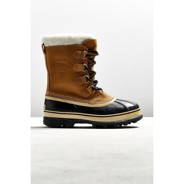 Sorel Caribou Boot ($150) ❤ liked on Polyvore featuring men's fashion, men's shoes, men's boots, mens waterproof snow boots, mens water proof boots, mens waterproof boots and mens waterproof shoes