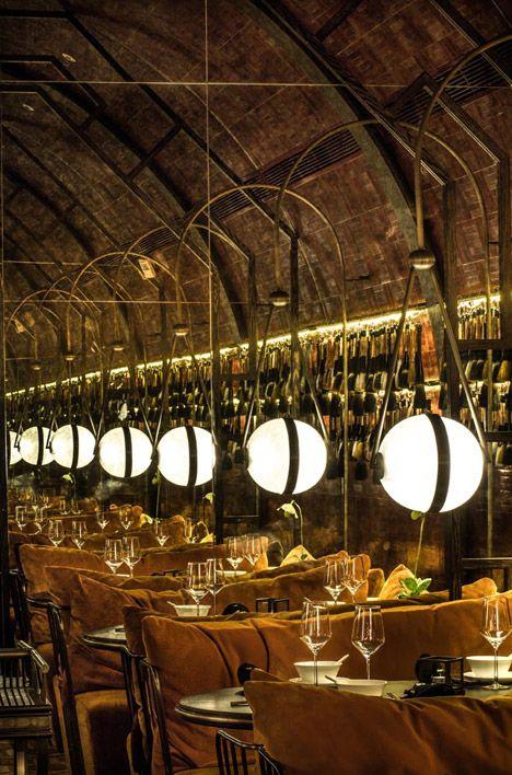 Mott 32 by Joyce Wang, restaurant in Hong Kong #interior #design of the year award winner