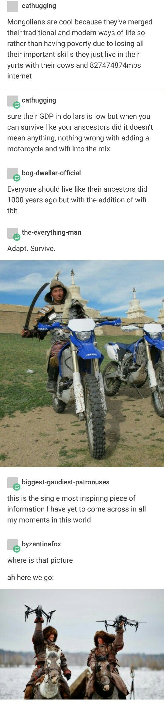 Mongolians, merging tradition and technology