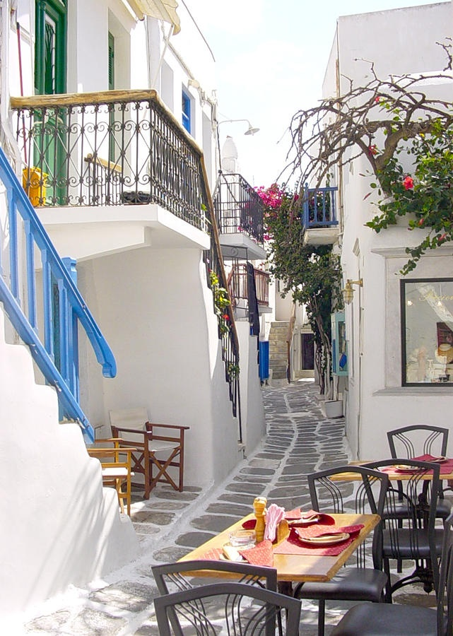 Mykonos, Greece - I want to sit at that table and have some wine.