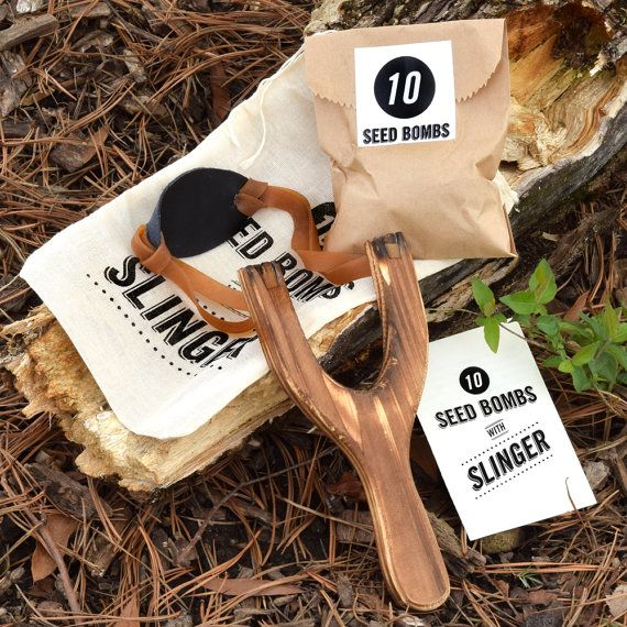 Guerrilla Gardening Slingshot Seed Bomb Kit for by visualingual