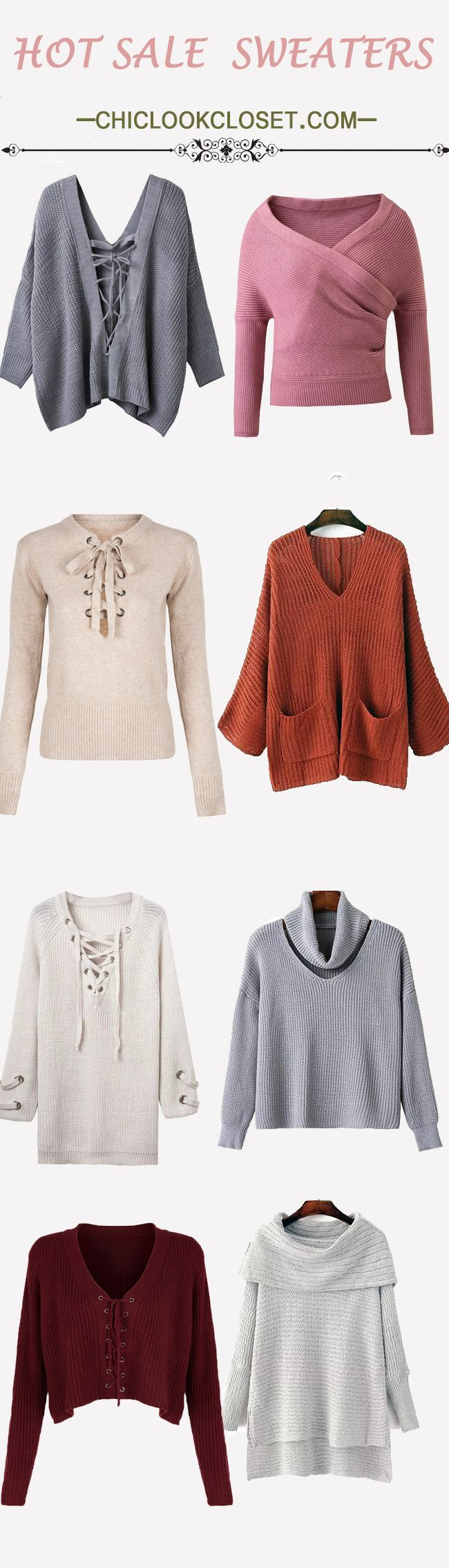 Sweaters are essential pieces in fall. It should not be absent in everyone's wardrobe, even man's. Chiclookcloset always is committed to provide the most popular fall style sweaters to you all.