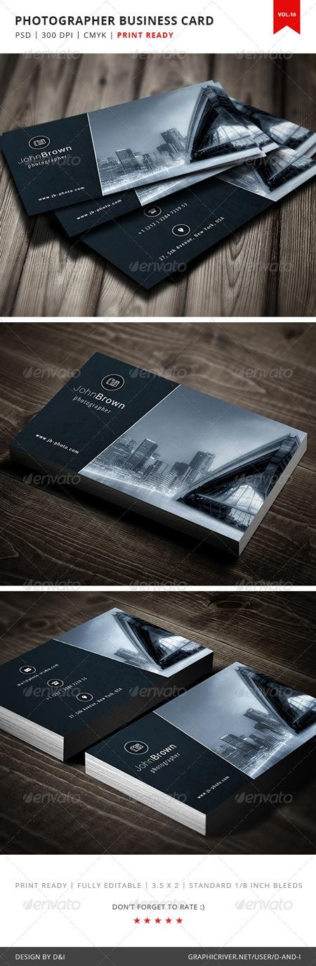 GraphicRiver Photographer Business Card - Vol.16 5189531