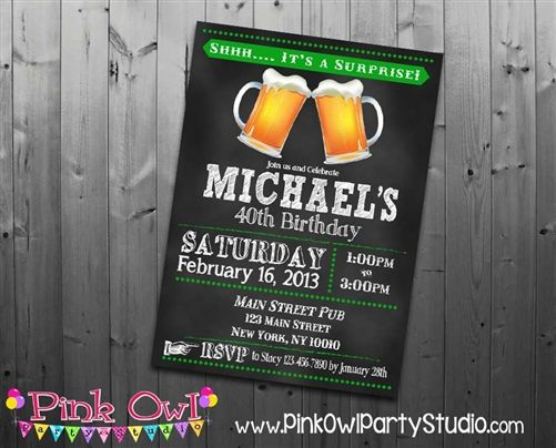 awesome surprise 40th birthday party invitations wording get more, Birthday invitations