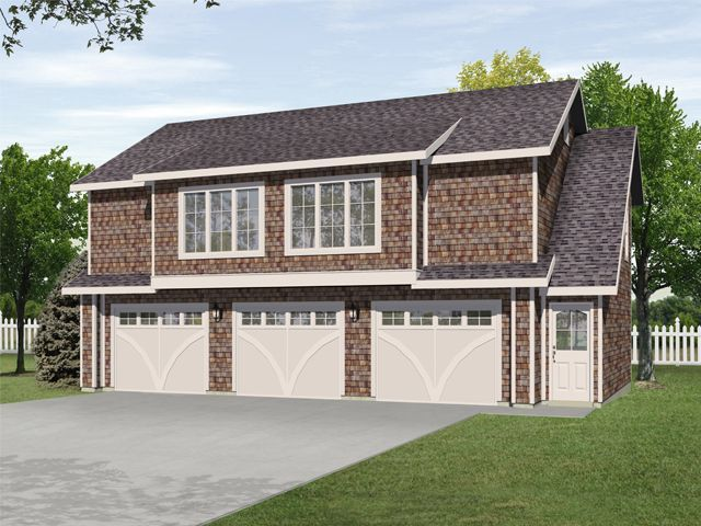 Two Bedroom Carriage House Above Three Car Garage Allows