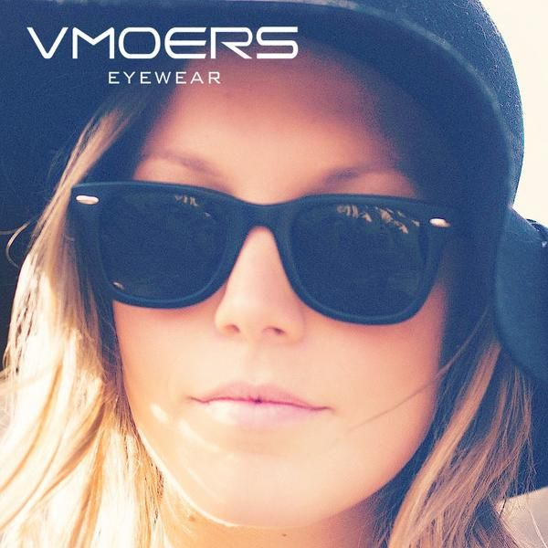 VMOERS Rivet Vintage Sunglasses Women Polarized Black Matte Plastic For Women  Classic Retro Shades Oculos Female New   Sunglasses women and Products 9bba925a03