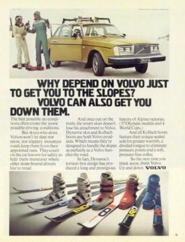 "1978 Volvo 264 GL Car Ad ""Slopes""-Original-Stills Of Time"