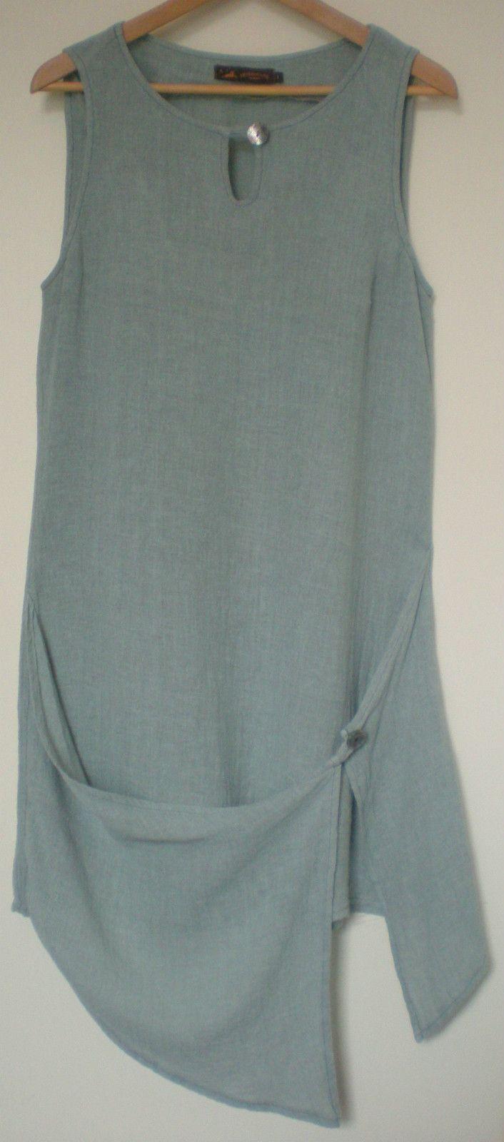White pinafore apron ebay - M 12 Apron Front Asymmetric Lagenlook