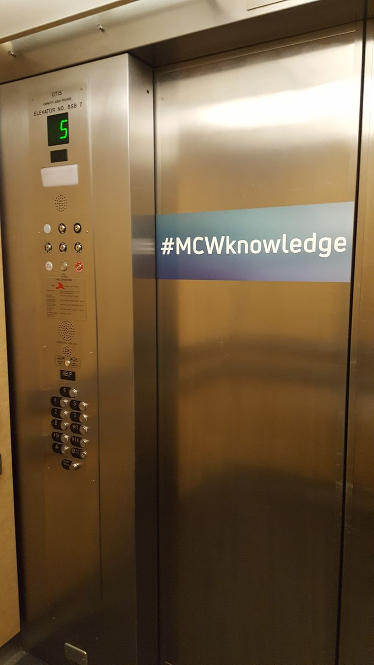 FASTSIGNS of Menomonee Falls applied a vinyl print to an elevator, for The Medical Collage of Wisconsin. Check us out at fastsigns.com/452, call us at #262-253-0799, email us at 452@fastsigns.com, or come visit us at W173N9170 St. Francis Drive, Suite 1, Menomonee Falls, WI 53051