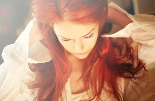 Is it weird that I love red hair like this? Everyone tells me not to dye it that color... but I think it's pretty.