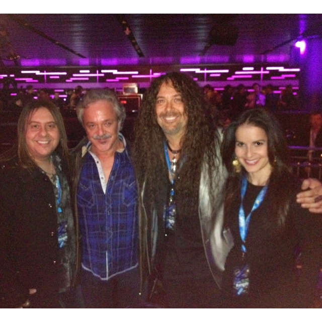 Chuck and Stacey at the Pollstar Awards with Jim Cummings and Jess Harnell