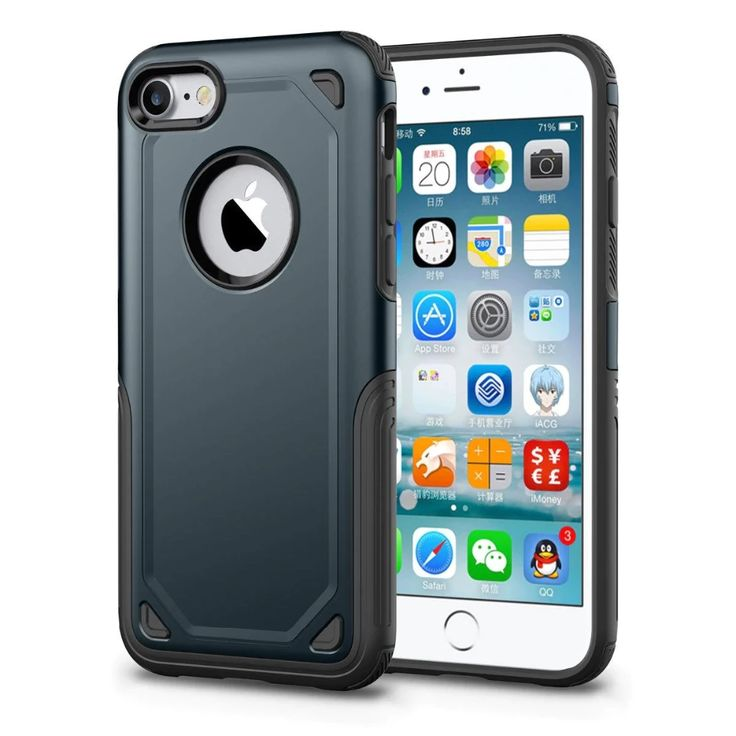 Military hybrid slim rugged armor case for iphone x xs 11