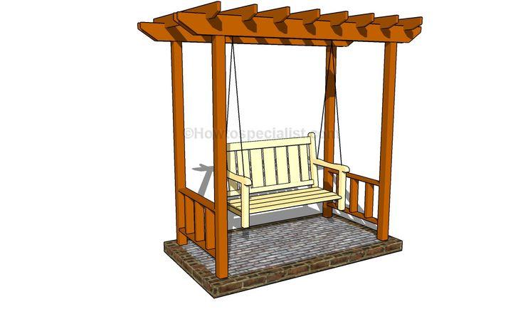 Build diy outdoor arbor swing plans plans wooden how to