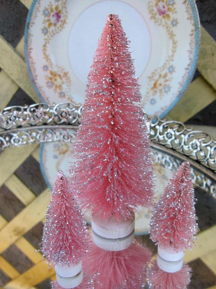 853 Best Glitter Housesbottle Brush Trees 4 Images On Pinterest