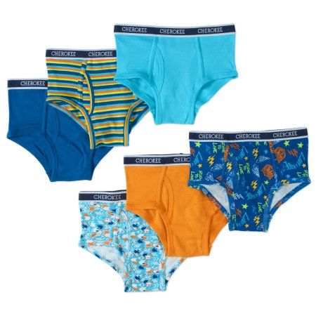 Cherokee Boys' 6 Pack Speed Print Brief, Size: Small, Assorted