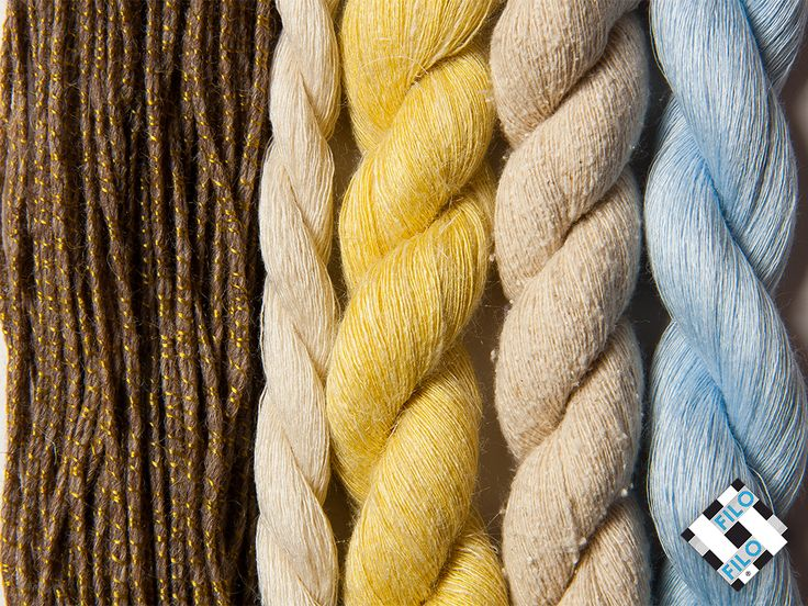 Different yarns but all based on cotton looks which are more or less rustic, more or less fine.