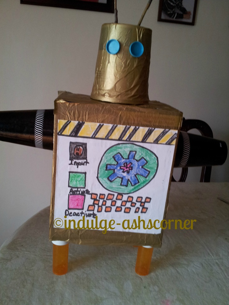 how to make a simple robot for school project