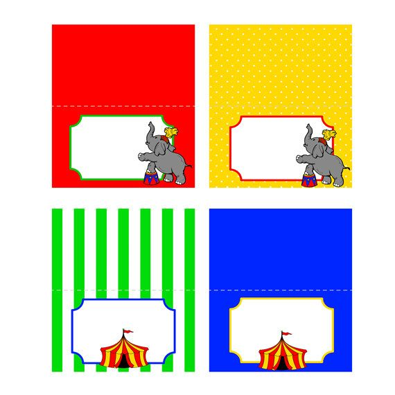 Circus Food Tent Labels Carnival Food Tent by ADTRCustomDesigns