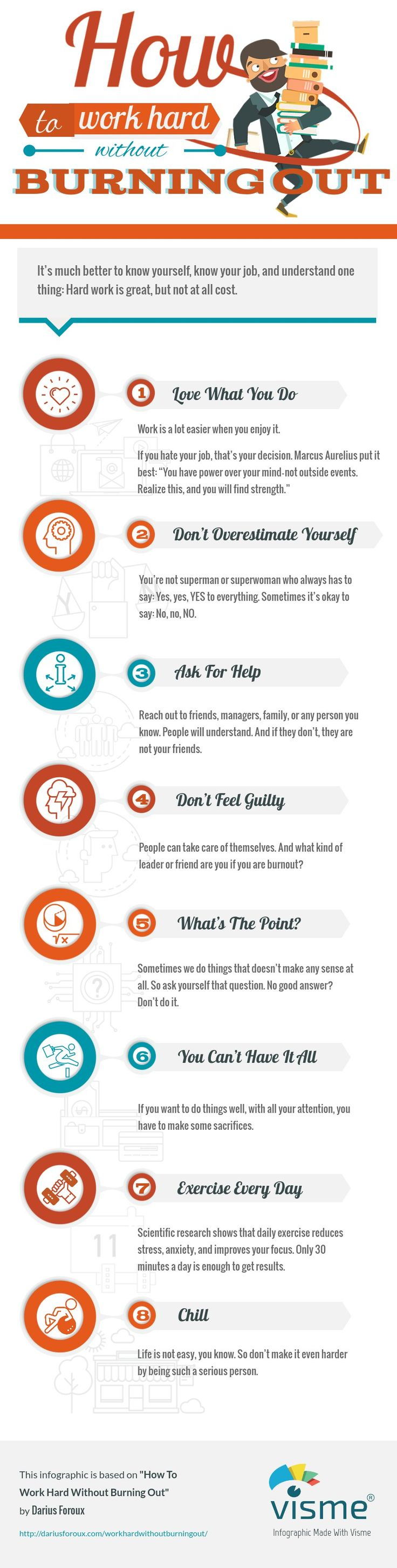 How To Work Hard Without Burning Out [Infographic]