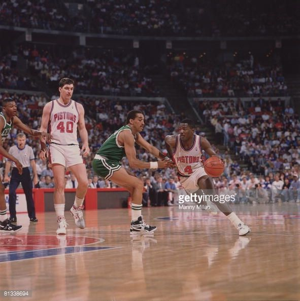 Fotografia de notícias : NBA Playoffs, Detroit Pistons Joe Dumars in...
